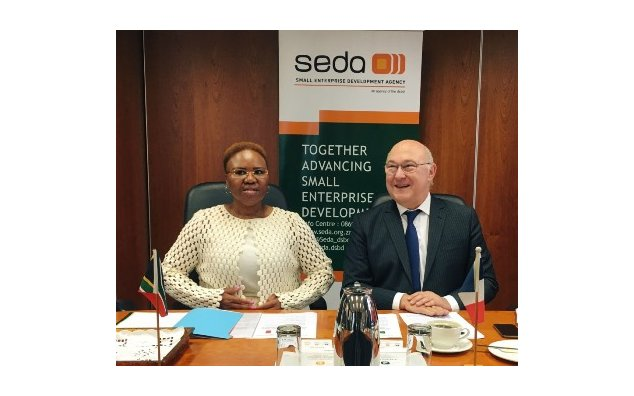 Minister Lindiwe Zulu and Minister Michel Sapin